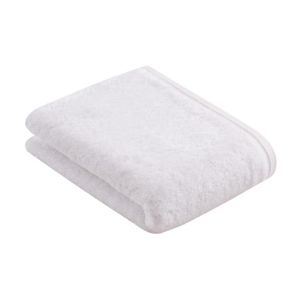 VOSSEN <BR> Vegan Life Bath Towel White <BR> 100% Vegan