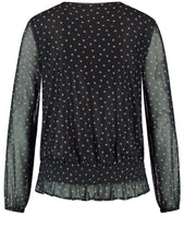 Load image into Gallery viewer, TAIFUN MESH TOP WITH AN ALL-OVER POLKA DOT PATTERN