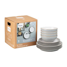Load image into Gallery viewer, DENBY 12 PIECE ELEMENTS LIGHT GREY TABLEWARE SET