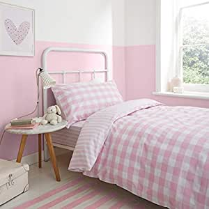 BIANCA CHECK & STRIPE SINGLE DUVET COVER