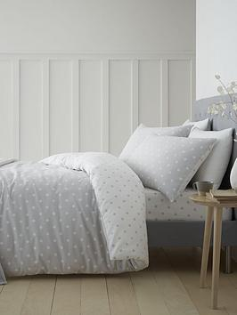 CATHERINE LANSFIELD BRUSHED COTTON SPOT DOUBLE DUVET SET