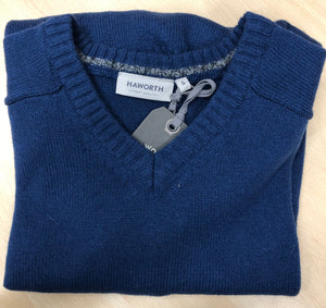 HAWORTH V NECK LAMBSWOOL MIX SWEATER