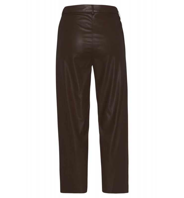 MORE & MORE <BR> Pleather Culottes <BR> Chocolate <BR>