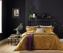 Load image into Gallery viewer, William Morris Seasons By May Bedding in Saffron organic cotton quilted bedspread