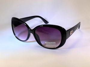 CHARLES GALLIANO <BR> Ladies Sunglasses <BR> Black with Gradient Smoke Lens <BR>