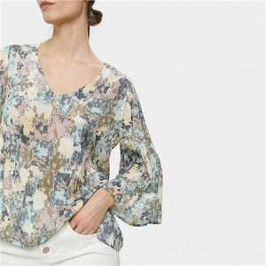 CREAM <BR> Dusta Blouse <BR> Blue <BR>