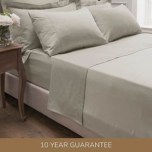 DORMA <BR> 300 Thread Count Sateen Cotton Single Fitted Sheet <BR> Cream <BR>