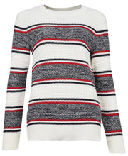 Load image into Gallery viewer, BARBOUR <BR> Ladies Merseyside Sweater <BR> Cream, Red, Navy <BR>