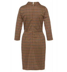 MORE & MORE <BR> Plaid Jersey Dress <BR>