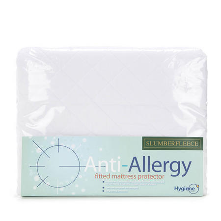 SLUMBERFLEECE DOUBLE ANTI ALLERGY, QUILTED MATTRESS PROTECTOR