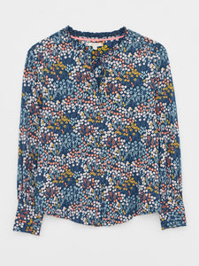 WHITE STUFF JOAN JERSEY SHIRT BLUE