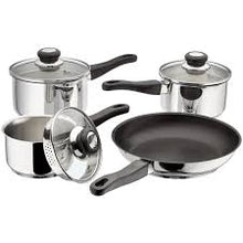 Load image into Gallery viewer, 4 PIECE DRAINING SAUCEPAN SET
