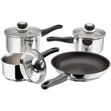 4 PIECE DRAINING SAUCEPAN SET