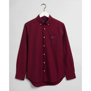 GANT <BR> Beefy Oxford Shirt <BR> Mahogny Red <BR>