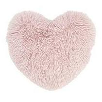 Catherine Lansfield Cuddly Heart Cushion blush