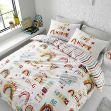 Load image into Gallery viewer, CATHERINE LANSFIELD BE A RAINBOW DOUBLE BED DUVET SET