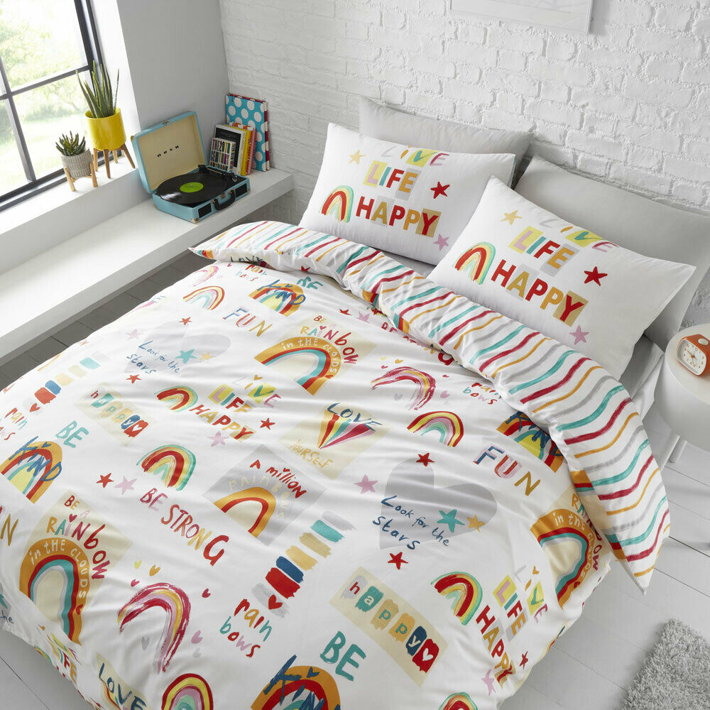 CATHERINE LANSFIELD BE A RAINBOW DOUBLE BED DUVET SET