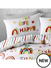 Load image into Gallery viewer, CATHERINE LANSFIELD BE A RAINBOW SINGLE BED DUVET SET
