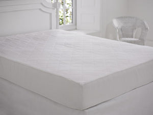 SLUMBERFLEECE 100% COTTON KING QUILTED MATTRESS PROTECTION