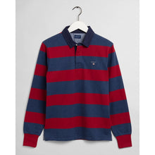 Load image into Gallery viewer, GANT Original Barstripe Heavy Rugby Shirt navy & claret