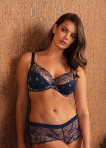 FANTASIE <BR> Aubree Side Support Bra <BR> Navy <BR>