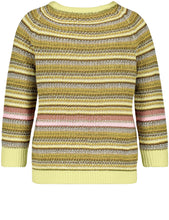 Load image into Gallery viewer, GERRY WEBER <BR> Striped Knit <BR> Citrus <BR>