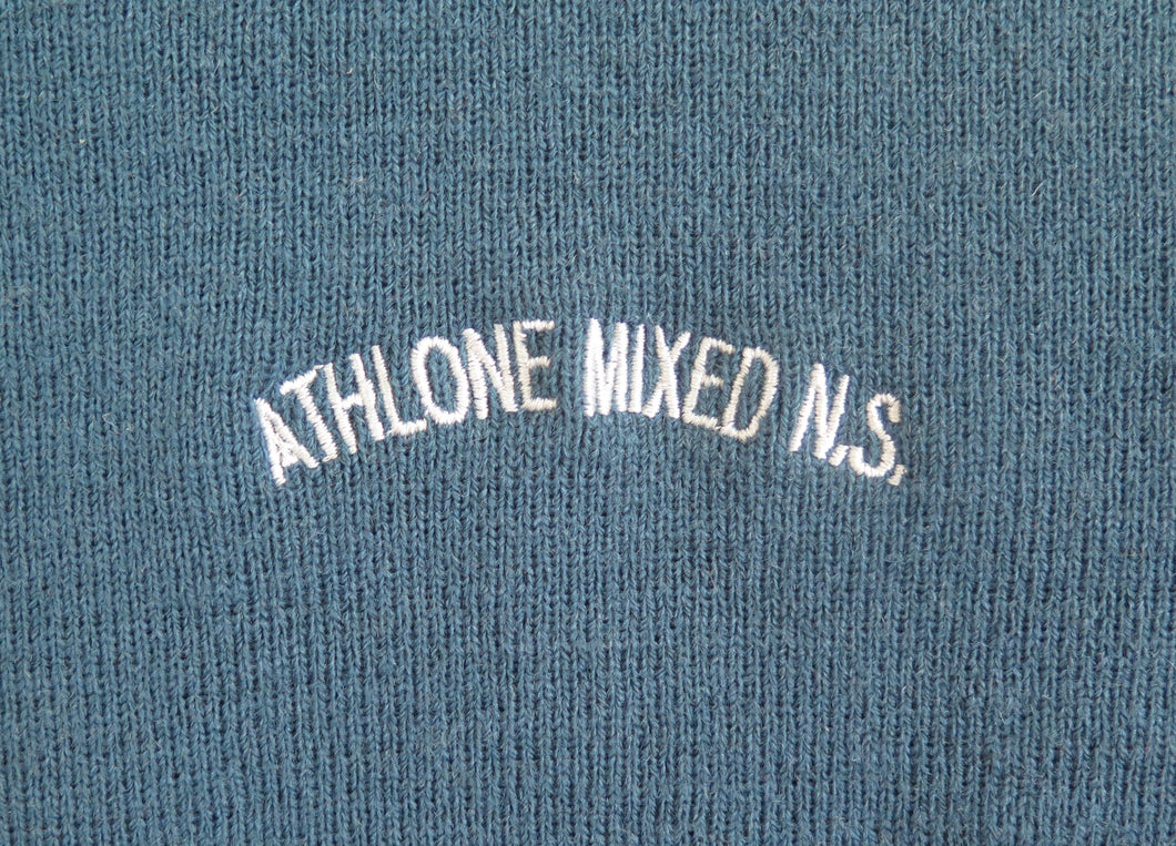 ATHLONE MIXED NATIONAL <BR> Crested Jumper, size 40 <BR> Teal <BR>
