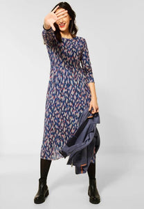 STREET ONE <BR> Mesh Dress <BR> Dark Blue <BR>