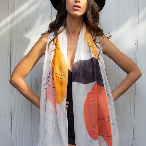 THE ARTISTS LABEL <BR> Scribbles on Marble Scarf <BR>