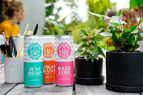 Shimmer Seltzer and House Plants