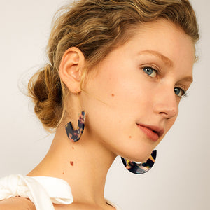 MAIA Purple Resin Geometric Earrings