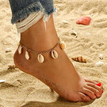 Load image into Gallery viewer, SIRIUS Gold Drop Shell Anklet