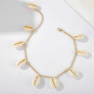 SIRIUS Gold Drop Shell Anklet