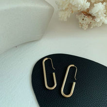 Load image into Gallery viewer, ACRUX Gold Plated Oval Hoops Earrings
