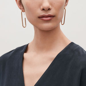 ACRUX Gold Plated Oval Hoops Earrings