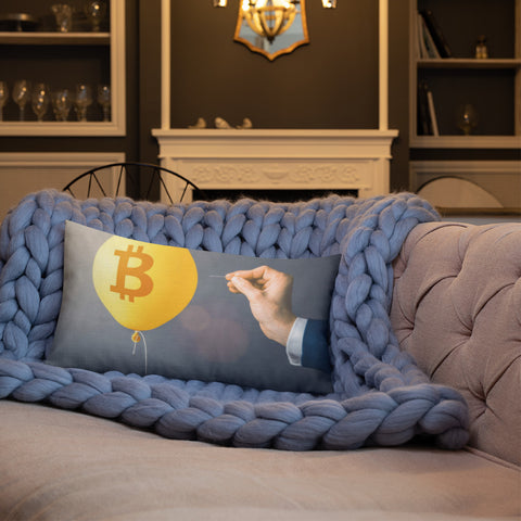 Bitcoin Bubble - Premium Pillow