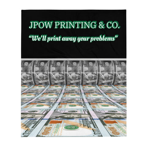 JPOW PRINTING & CO. - Throw Blanket