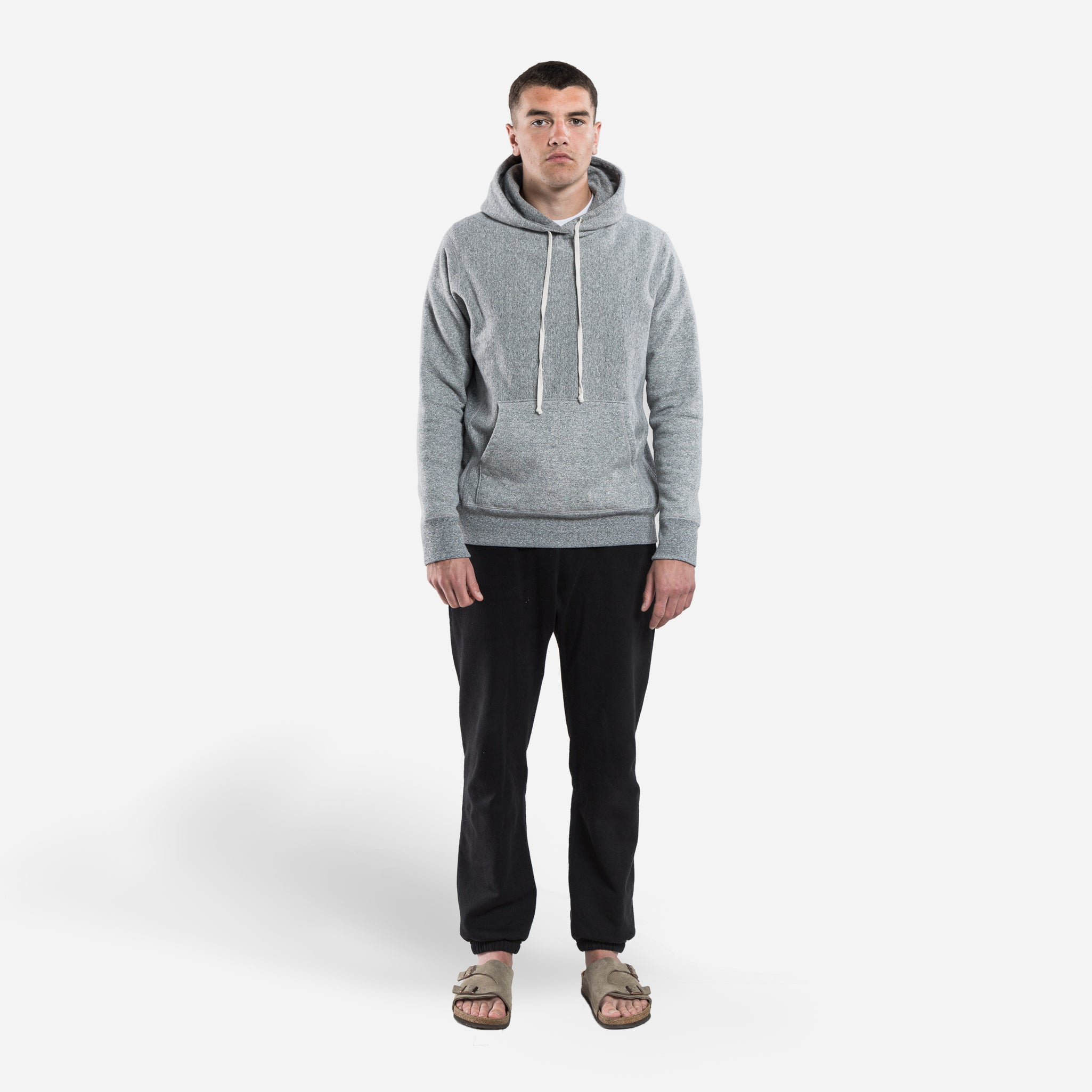 Hooded Sweat - Grey Speckle