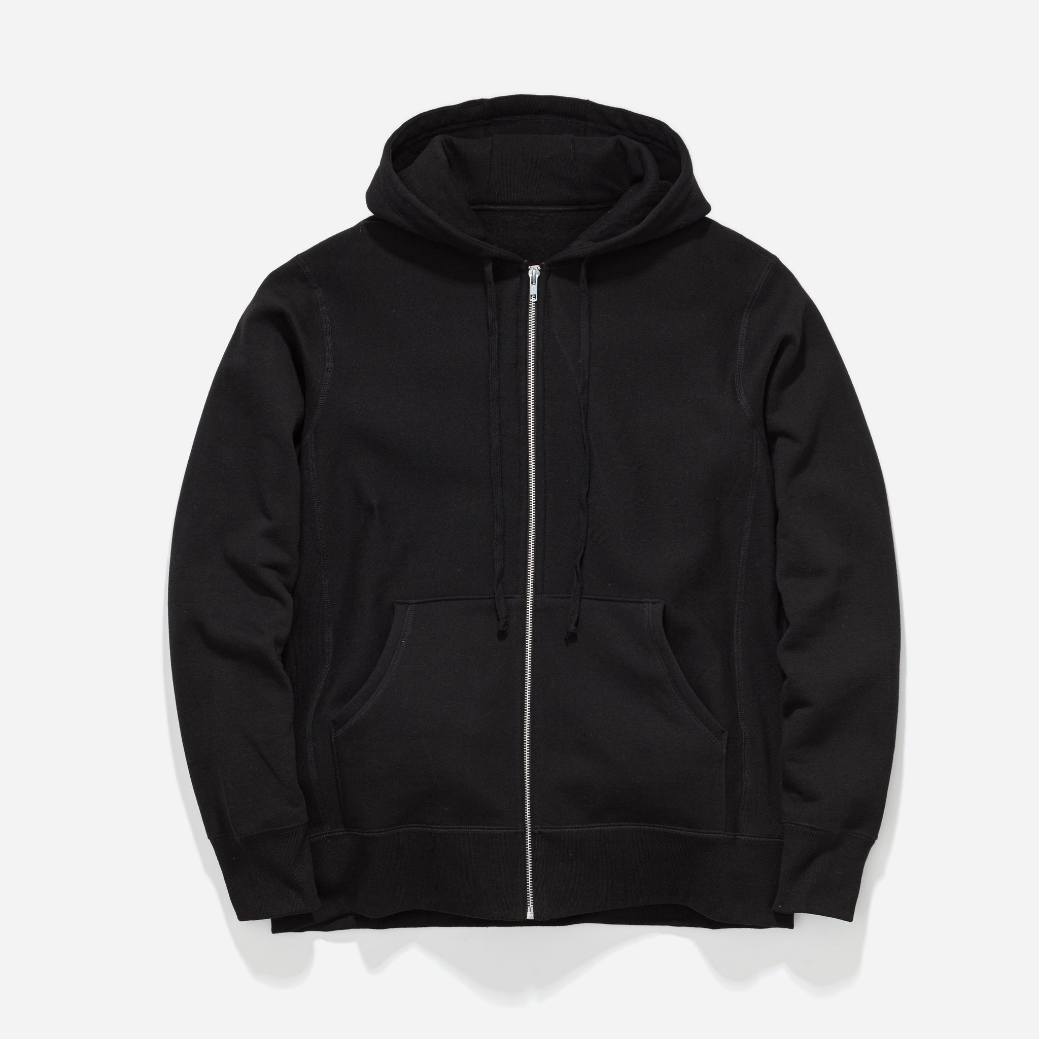 Zip Hooded Sweat - Black