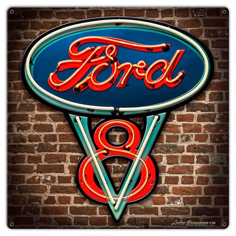 Larry Grossman Ford Neon Style Sign