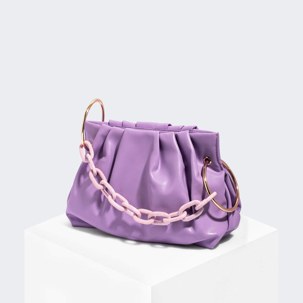 House Of Want CHILL Framed Clutch Lavender - front