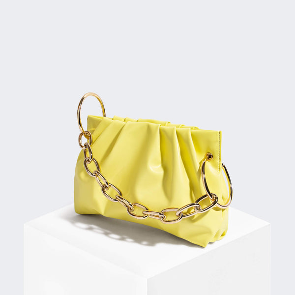 House Of Want CHILL Framed Clutch Lemon - front