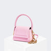 House Of Want HOW WE ARE CHIC Top Handle Pink Saffiano - front