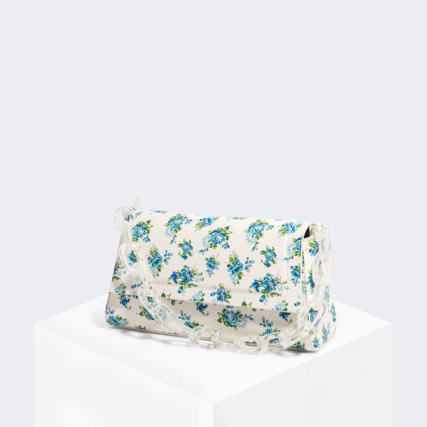 House Of Want HOW WE FASHION Shoulder Bag Blue Floral - front