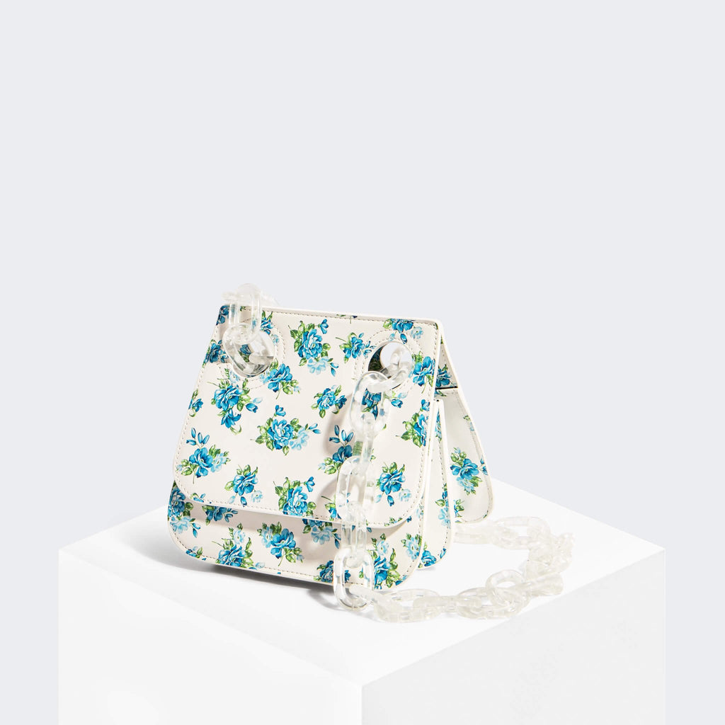 House Of Want HOW WE ARE ORIGINAL Shoulder Bag Blue Floral - front