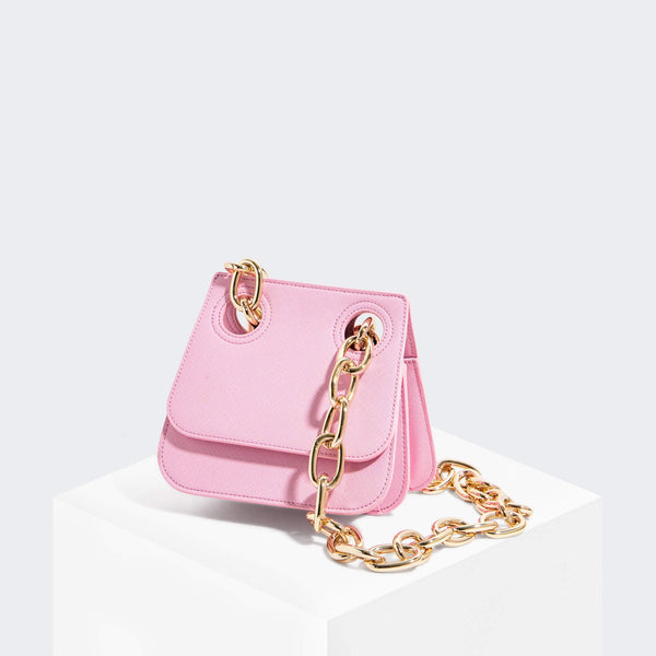 House Of Want HOW WE ARE ORIGINAL Shoulder Bag Pink Saffiano - front