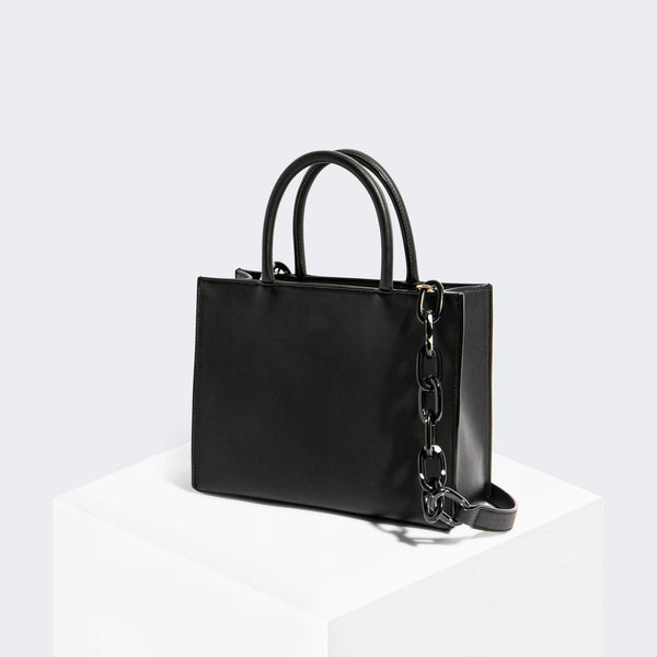 House Of Want HOW WE GRAM Small Tote Black Texture - front