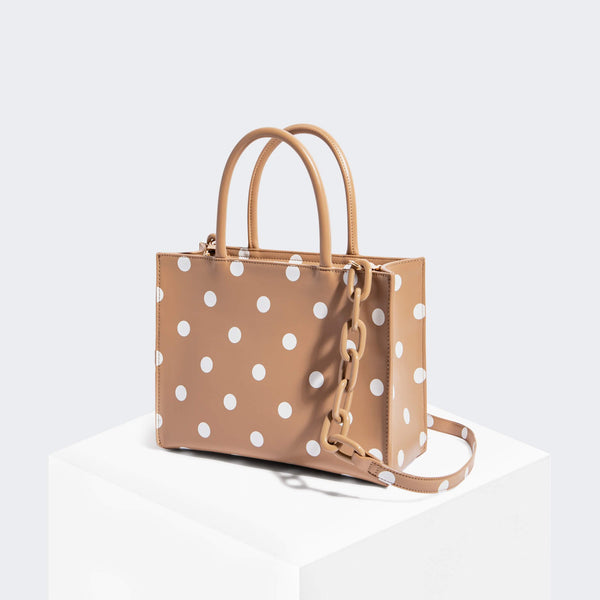 House Of Want HOW WE GRAM Small Tote Polka Dot - front