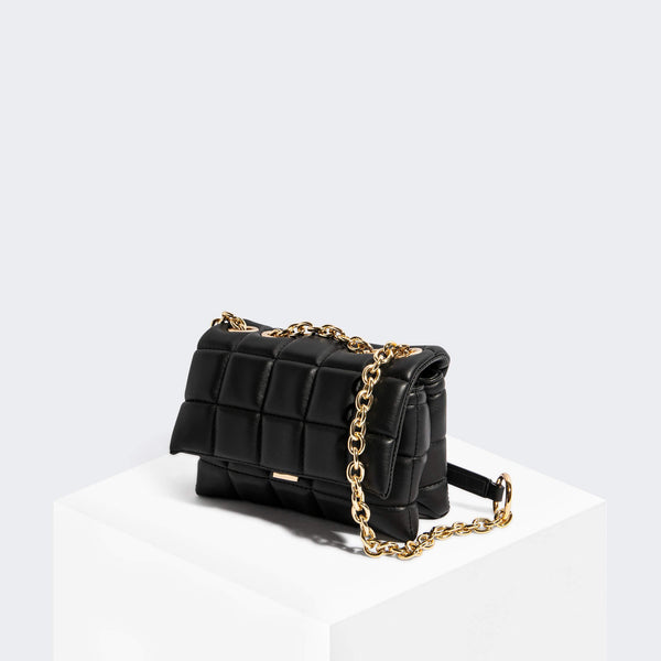 House Of Want HOW WE SLAY Small Shoulder Bag Black Texture - front