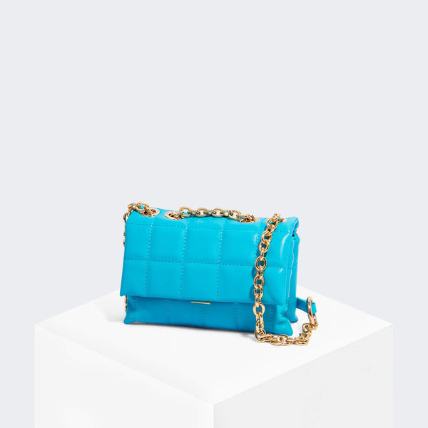 House Of Want HOW WE SLAY Small Shoulder Bag Sea Blue - front
